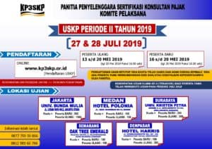 Read more about the article Jadwal USKP Periode Ke-2 Juli 2019
