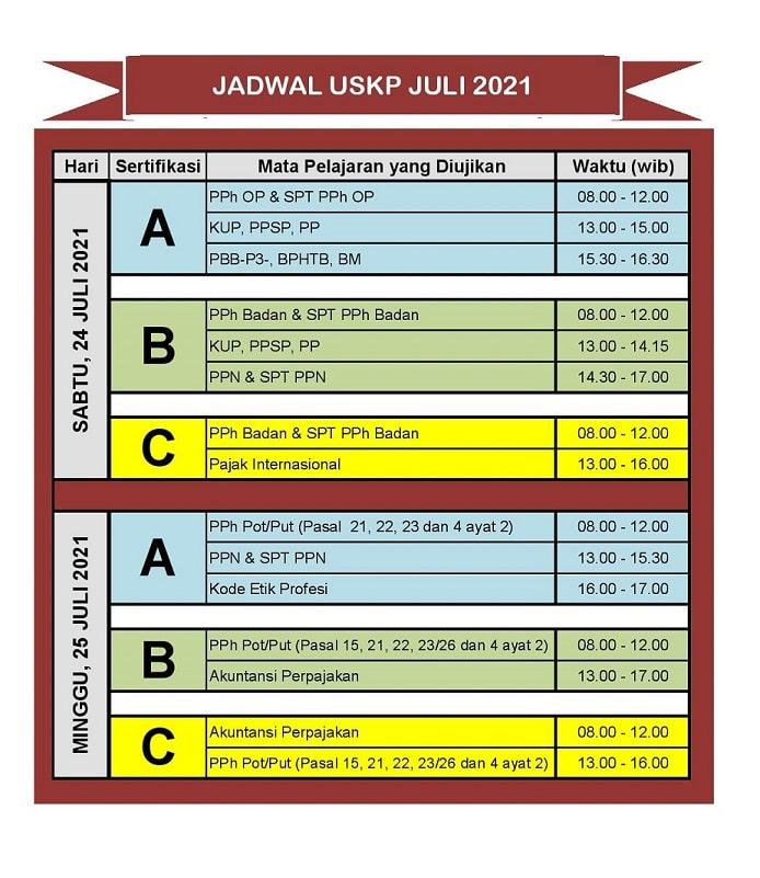 Jadwal Ujian Sertifikasi Konsultan Pajak (USKP) 2021